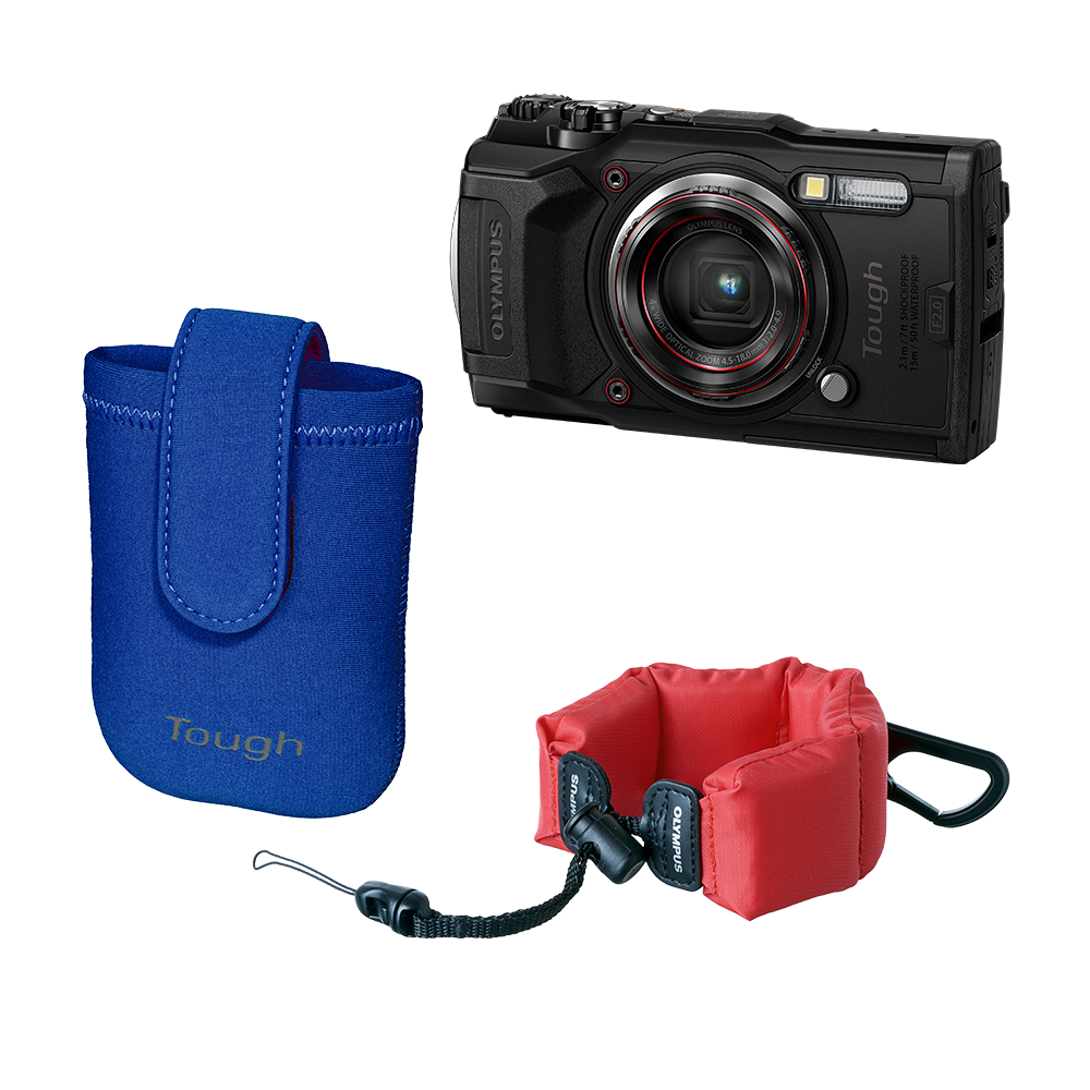 Фотоаппарат Olympus TG‑6 Snorkeling Photography Kit черный (V104210BE030) фото