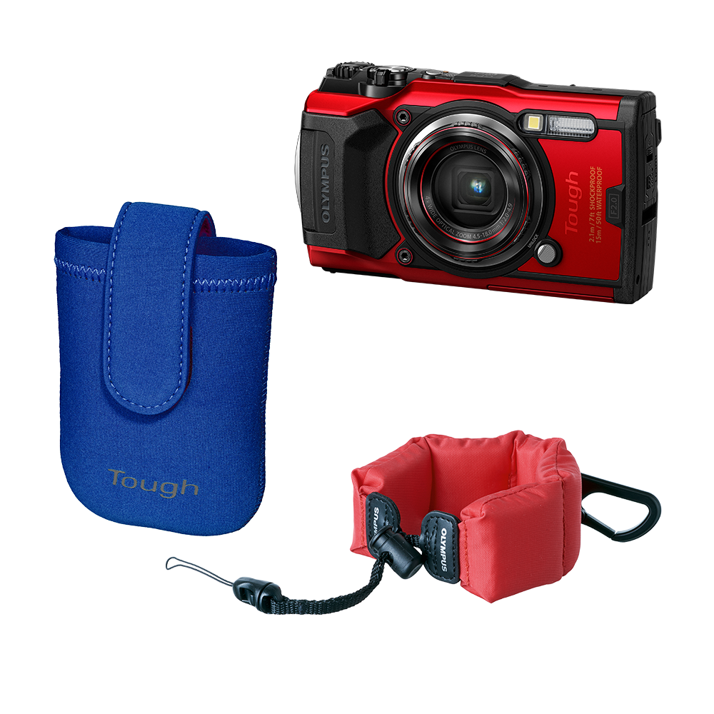 Фотоаппарат Olympus TG‑6 Snorkeling Photography Kit красный (V104210RE010) — V104210RE010