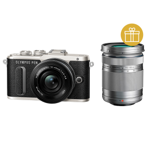 Фотоаппарат Olympus PEN E-PL8 Pancake Double Zoom Kit с объективами 14-42 EZ и 40-150mm черный (V205083BE000)