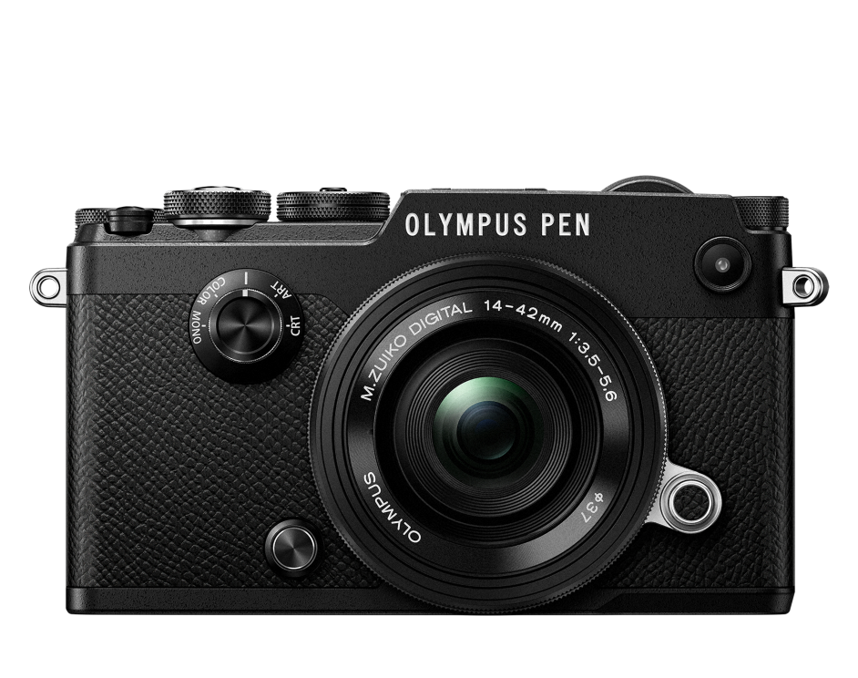 Фотоаппарат Olympus PEN-F Pancake Zoom Kit с объективом 14-42 EZ черный (V204061BE000)