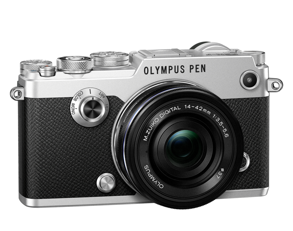 Фотоаппарат Olympus PEN-F Pancake Zoom Kit с объективом 14-42 EZ серебристый (V204061SE000)