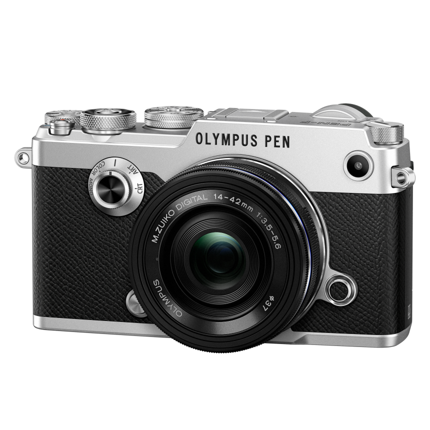 Фотоаппарат Olympus PEN-F Pancake Zoom Kit с объективом 14-42 EZ серебристый (V204061SE000) цена