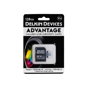 Карта памяти Delkin Devices Advantage microSDXC 128GB 660X UHS-I Class 10 V30