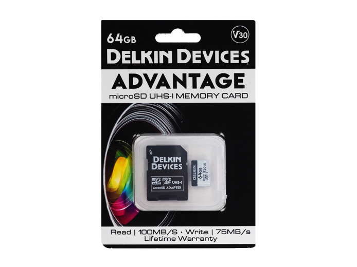 Карта памяти Delkin Devices Advantage microSDXC 64GB 660X UHS-I Class 3 V30