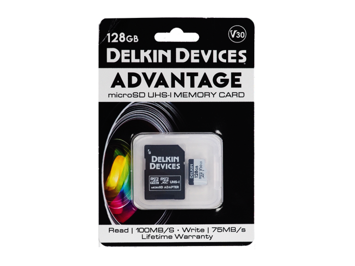 Карта памяти Delkin Devices Advantage microSDXC 128GB 660X UHS-I Class 3 V30