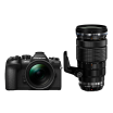 Фотоаппарат Olympus OM-D E-M1 Mark II Double Zoom Kit с объективами 12-40mm PRO и 40-150mm PRO черный (V207061BE010)