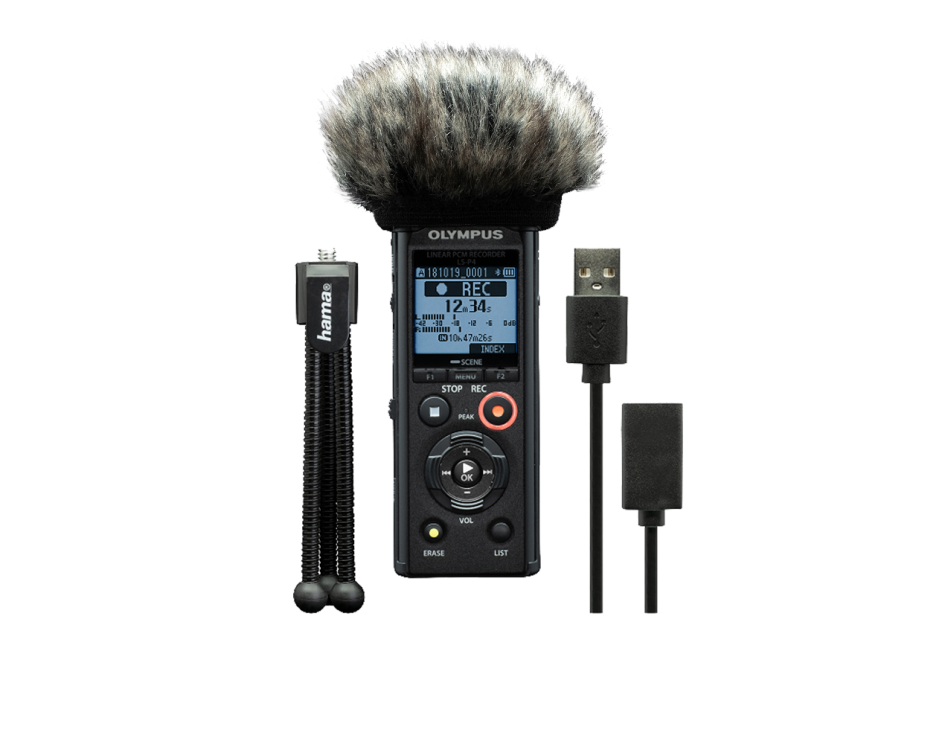Диктофон Olympus LS-P4 Podcaster Kit (V409160BE020)