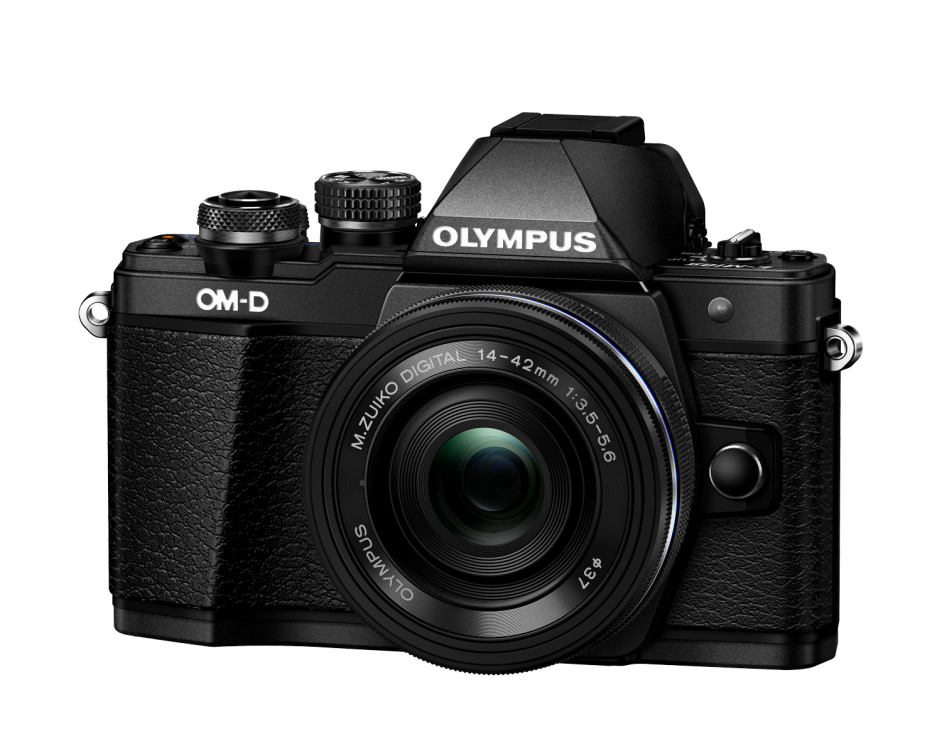 Фотоаппарат Olympus OM-D E-M10 Mark II Pancake Double Zoom Kit с объективами 14-42 EZ и 40-150mm черный (V207053BE000)