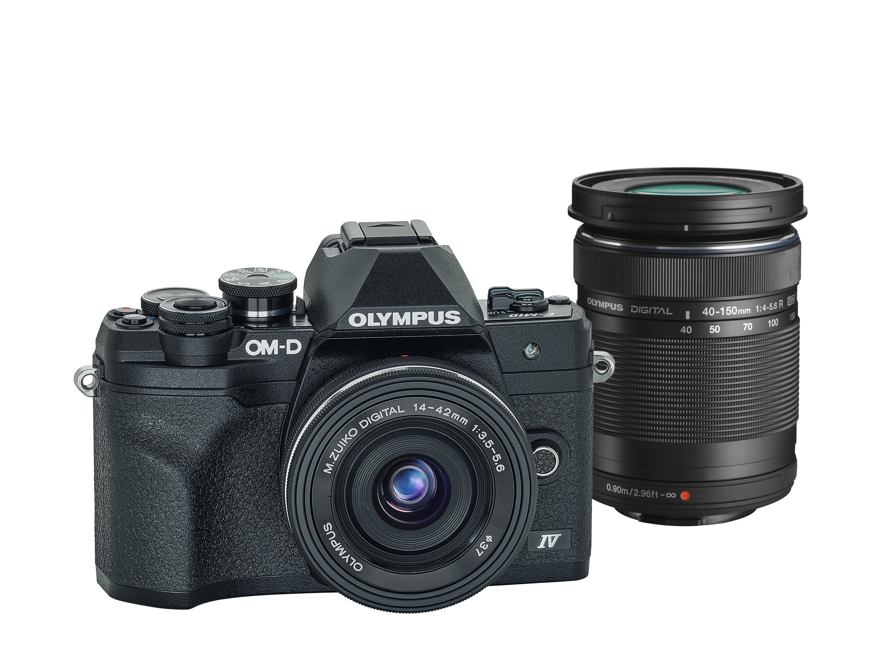 Фотоаппарат Olympus OM-D E-M10 Mark IV Pancake Double Zoom Kit с объективами 14-42 EZ и 40-150mm черный (V207134BE000) фото