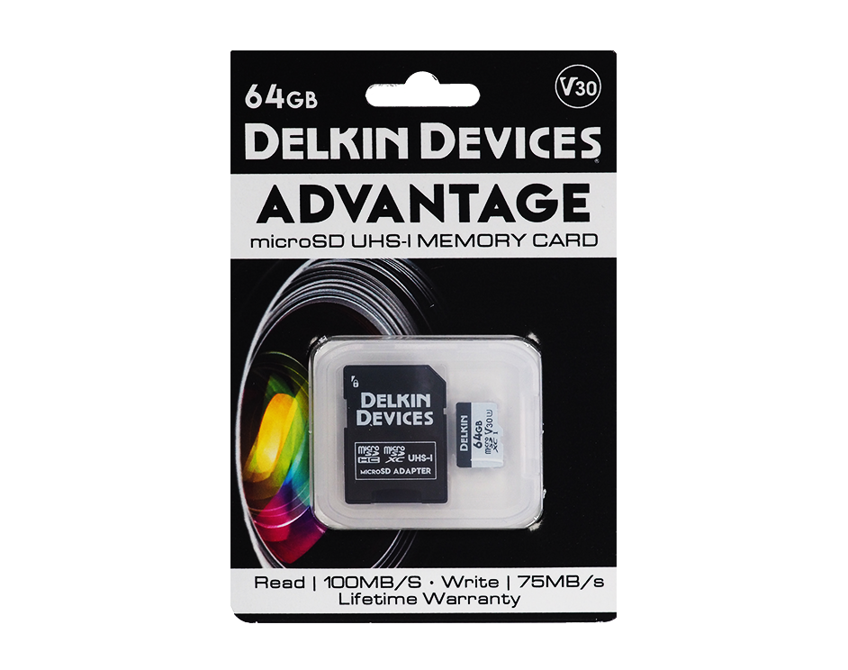 Карта памяти Delkin Devices Advantage microSDXC 64GB 660X UHS-I Class 10 V30 DDMSDW66064G фото
