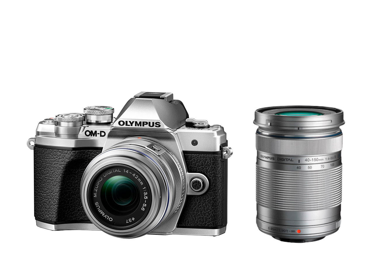 Фотоаппарат Olympus OM-D E-M10 Mark III 14-42IIR Double Zoom Kit с объективами 14-42IIR и 40-150mm серебристый (V207071SE010) фото